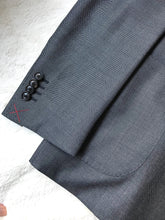 Load image into Gallery viewer, New With Tags SUITSUPPLY JORT Gray Birdseye Wool and Silk Suit - SIze 40R