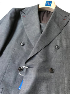 New With Tags SUITSUPPLY JORT Gray Birdseye Wool and Silk Suit - SIze 40R