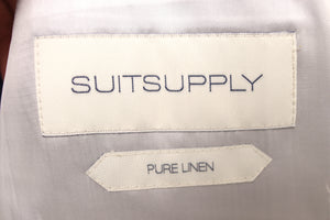 NWT SUITSUPPLY Havana Blue Stripe 100% Linen 3 Piece Suit - Size 42R