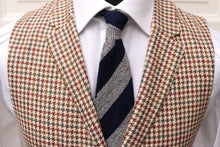 Load image into Gallery viewer, New W. Tags SUITSUPPLY Capetown Green, Brown and Burgundy Houndstooth Silk Waistcoat - Size 38R