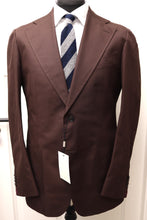 Load image into Gallery viewer, NWT Suitsupply Havana Wide Lapel Chocolate Brown 100% Cotton Suit - Size 44R