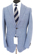 Load image into Gallery viewer, NWT Suitsupply Havana Light Blue Houndstooth Jacket - Size 38R