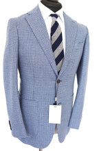 Load image into Gallery viewer, NWT Suitsupply Havana Light Blue Houndstooth Jacket - Size 40S