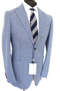 NWT Suitsupply Havana Light Blue Houndstooth Jacket - Size 40S
