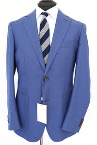 NWT Suitsupply Havana Blue Wool, Silk and Linen Houndstooth Jacket - Size 38R, 42R and 44R