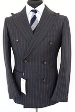 Load image into Gallery viewer, NWT Suitsupply Havana Dark Gray Pinstripe 100% Wool Suit - Size 36S and 44R