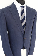 Load image into Gallery viewer, NWT Suitsupply Havana Blue Check 100% Linen Jacket - Size 44R