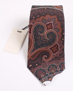 NWT Suitsupply Green Paisley 100% Silk Tie