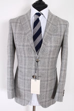 Load image into Gallery viewer, NWT Suitsupply Havana Light Gray Check 54% Silk Blazer - Size 36S and 40R