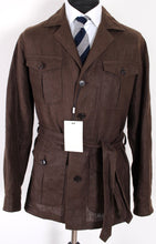 Load image into Gallery viewer, NWT Suitsupply Sahara Brown 100% Linen Safari Jacket - Size 42R and 44R