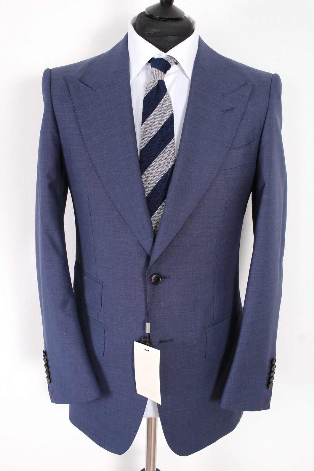 NWT Suitsupply Washington Wide Lapel Blue 100% Wool Suit - Size 36R, 38R, 40R and 42R