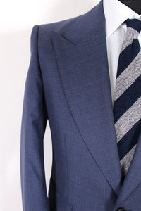 NWT Suitsupply Washington Wide Lapel Blue 100% Wool Suit - Size 40R and 42R