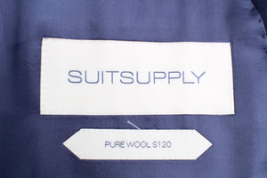 NWT Suitsupply Havana Navy Blue 100% Super 120s Tropical Wool Suit - Size 38R