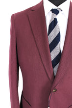 Load image into Gallery viewer, NWT Suitsupply Havana Burgundy 100% Cotton Seersucker Suit - Size 42L