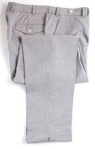 NWT Suitsupply Havana Gray Plain Cotton Seersucker Suit - Size 38R (Blake Trousers)