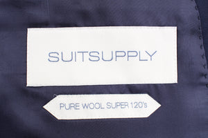 NWT Suitsupply Havana Navy Blue Wide Lapel 100% Wool Suit  - Size 42L and 46R