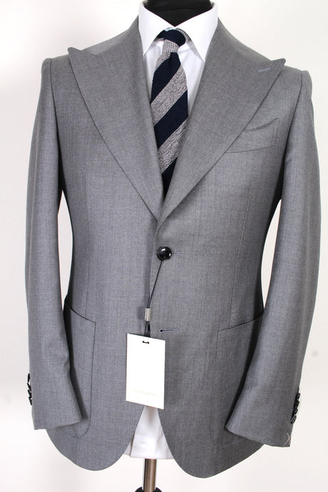 NWT Suitreview x Suitsupply Havana Mid Gray Plain Custom Made Super 130s Suit - Size 38S, 42S, 42R, 44S and 44R