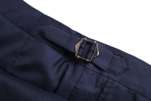 NWT Suitsupply JORT Bolton Navy Fishtail Trousers- Size 36R (32.2 inch waist)