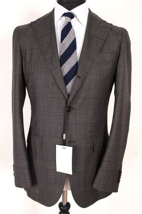 NWT Suitsupply Havana Brown Check World's Lightest Suit - Size 38R (Sample)