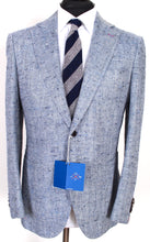 Load image into Gallery viewer, NWT Suitsupply JORT Blue Herringbone 80% Silk Suit - Size 44S