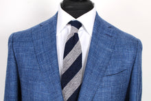 Load image into Gallery viewer, NWT Suitsupply Havana Blue Textured Wool, Silk, Linen Blazer - Size 42L (FINAL SALE)