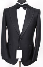 Load image into Gallery viewer, NWT Suitsupply Lazio Black 100% Wool Peak Lapel Tuxedo - Size 38R, 46S and 44L