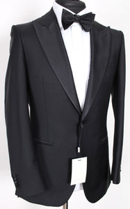 NWT Suitsupply Lazio Black 100% Wool Peak Lapel Tuxedo - Size 38R, 46S and 44L