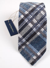 Load image into Gallery viewer, New With Tags SUITSUPPLY Blue Check Wool, Silk and Polymide Tie