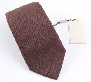 New With Tags SUITSUPPLY Brown Plain 100% Silk Tie