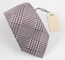Load image into Gallery viewer, New With Tags SUITSUPPLY Brown Houndstooth Check 100% Silk Tie