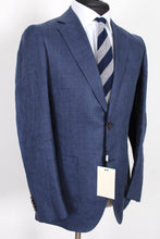 Load image into Gallery viewer, NWT Suitsupply Havana Blue Check 100% Linen Suit - Size 36R, 38S, 38R, 40R, 42R ,42L
