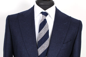 NWT Suitsupply Washington Deep Navy Blue 100% Wool Flannel Suit - Size 40R