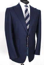 Load image into Gallery viewer, NWT Suitsupply Washington Deep Navy Blue 100% Wool Flannel Suit - Size 40R