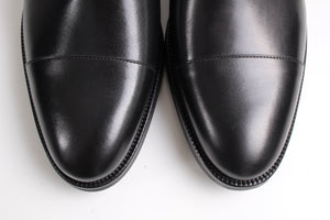 New SUITSUPPLY Black Double Monk Italian Leather Shoes - Size US 9