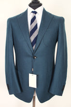 Load image into Gallery viewer, New Suitsupply Havana Pleated Green Plain Wool and Cashmere Blazer - Size 38R