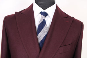 New Suitsupply Havana Burgundy 100% Wool Flannel Suit - Size 38S, 38R, 40S, 40R, 42S
