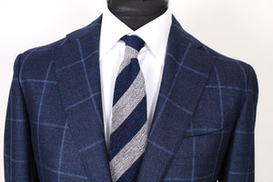 New Suitsupply Havana Blue Windowpane 100% Wool Blazer - Size 42R