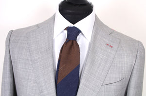 New Suitsupply JORT Light Gray 100% Wool Suit - Size 40L