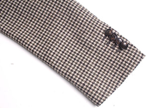New Suitsupply Havana Belluno Brown Houndstooth Wool/Cashmere Suit - Size 40R