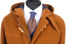 Load image into Gallery viewer, New Suitsupply DUFFEL Brown Herringbone 100% Wool Coat - Size 40R