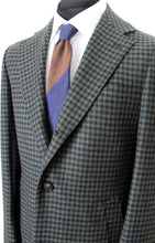 Load image into Gallery viewer, New Suitsupply Vincenza Green Houndstooth 100% Wool Coat - Size 38R