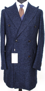 New Suitsupply Bleecker Navy Blue 62% Alpaca Coat - Size 38R and 40R