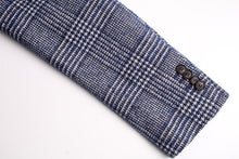 Load image into Gallery viewer, New Suitsupply Havana Blue Check Wool and Cotton Unconstructed Blazer - Size 38R