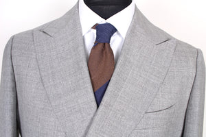 New Suitsupply Havana Light Gray 100% Wool All Season Suit - Size 44R