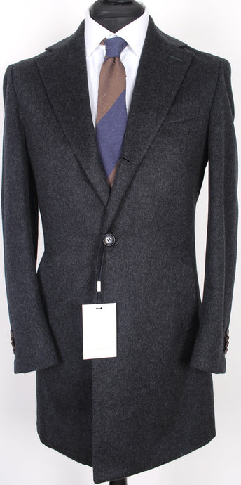 New Suitsupply Vincenza Dark Gray 100% Wool Coat - Size 36R