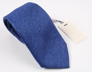 New SUITSUPPLY Blue Plain Silk and Linen Tie