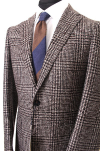 New Suitsupply Havana Brown Check Wool and Silk Blazer - Size 38R