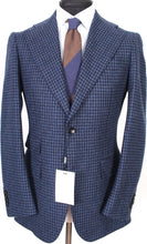 Load image into Gallery viewer, New Suitsupply Havana Blue Houndstooth Wool and Cashmere Wide Lapel Blazer - Size 38R