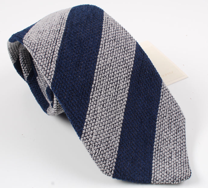 New With Tags SUITSUPPLY Navy Stripe 75% Silk Tie