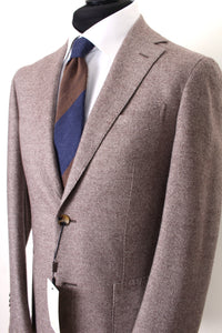 New Suitsupply Havana Brown Twill Weave Wool, Silk, Cashmere Suit - Size 38R
